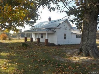 Amelia County Single Family Home For Sale: 4600 Mills Lane