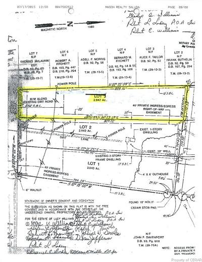Middlesex County Land For Sale: 00 Kates Neck Road