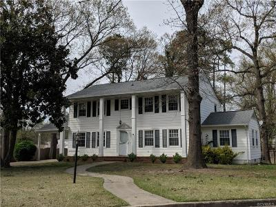 Hopewell Single Family Home For Sale: 3305 Portsmouth Street