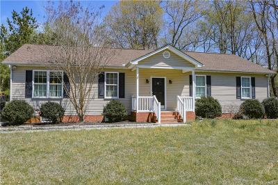 Dinwiddie Single Family Home For Sale: 5703 Whisper Drive