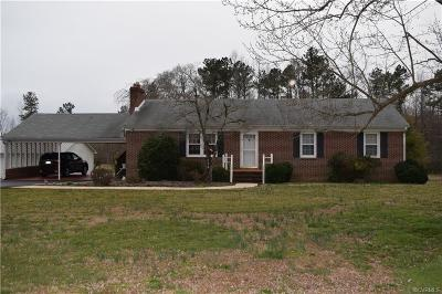 Amelia County Single Family Home For Sale: 5720 Dennisville Road