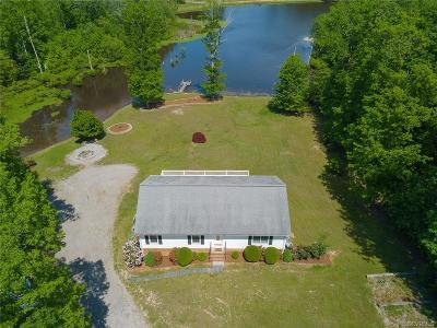 Dinwiddie Single Family Home For Sale: 19010 Turkey Egg Road