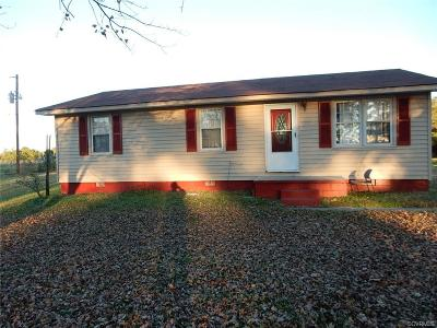Dinwiddie Single Family Home For Sale: 16817 Courthouse Road