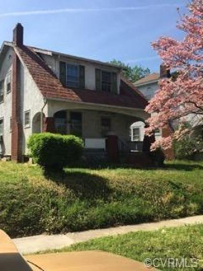 Richmond Single Family Home For Sale: 3224 Cliff Avenue