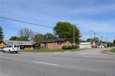 Colonial Heights, Hopewell, Prince George Commercial For Sale: 501 N 6th Avenue