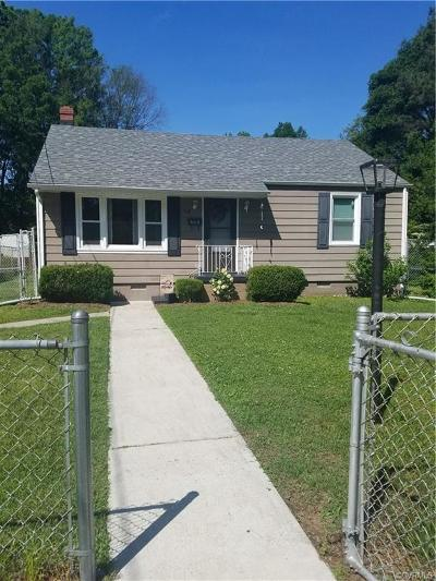 Colonial Heights VA Single Family Home For Sale: $150,000