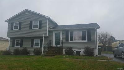 Hopewell Single Family Home For Sale: 3906 Yorktown Drive