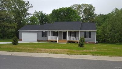 Aylett Single Family Home For Sale: W. River Road