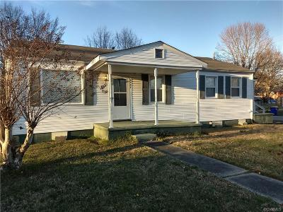 Hopewell VA Single Family Home Sold: $102,000