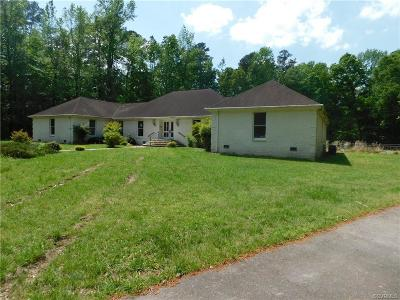 Colonial Heights, Hopewell, Prince George Single Family Home For Sale: 7714 Bull Hill Road