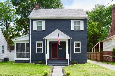 Petersburg Single Family Home For Sale: 1664 Mount Vernon Street
