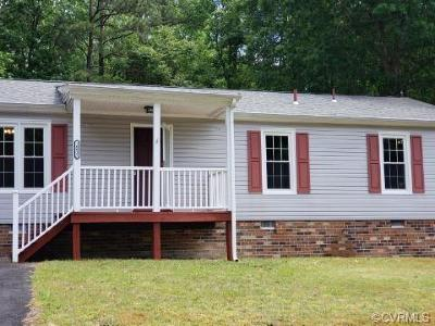 Chesterfield County Rental For Rent: 16031 Tri Gate Road