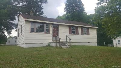 Dinwiddie Single Family Home For Sale: 15712 Allen Drive
