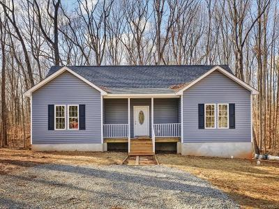 Powhatan County Single Family Home For Sale: Pleasants Road
