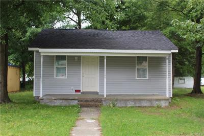 Dinwiddie Single Family Home For Sale: 3211 Freeman Street