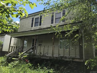 Petersburg Single Family Home For Sale: 418 Shore Street