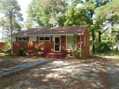 Petersburg Single Family Home For Sale: 2111 Fort Rice Street