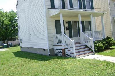 Richmond Single Family Home For Sale: 1720 Porter Street