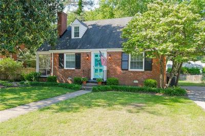 Henrico County Single Family Home For Sale: 6605 W Franklin Street