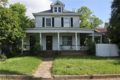 Petersburg Single Family Home For Sale: 120 E Fillmore Street