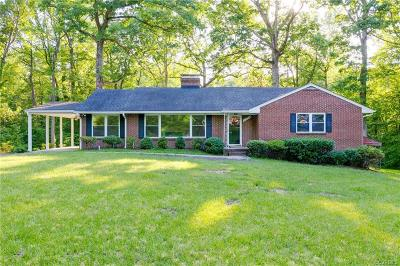 Chester Single Family Home For Sale: 11526 Cliff Lawn Drive