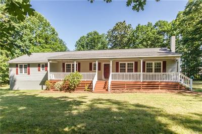 Dinwiddie Single Family Home For Sale: 15514 Nash Road