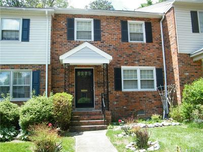 North Chesterfield Condo/Townhouse For Sale: 6218 Aldersbrook Court #6218