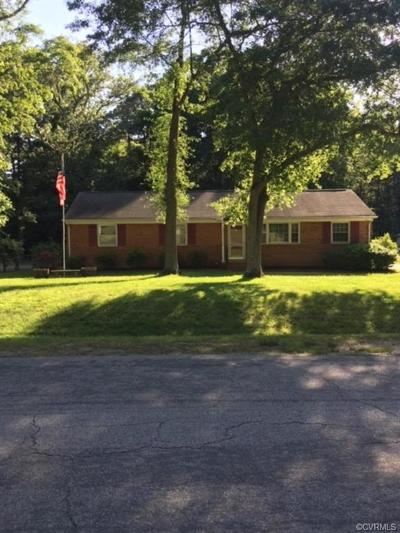 Chester VA Single Family Home For Sale: $219,900