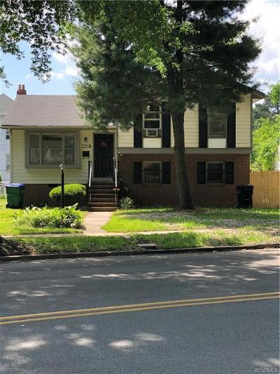 Richmond Single Family Home For Sale: 3318 Meadowbridge Road