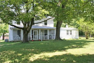 Powhatan County Single Family Home For Sale: 6100 Miles Road