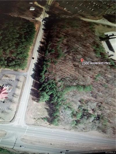 Powhatan County Land For Sale: 2300 Anderson Highway