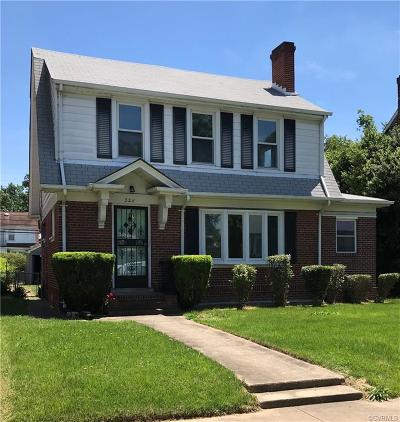 Richmond Single Family Home For Sale: 3211 Edgewood Avenue