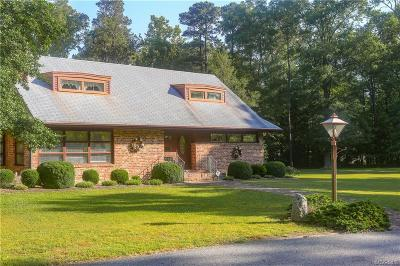Prince George Single Family Home For Sale: 4400 Courthouse Road