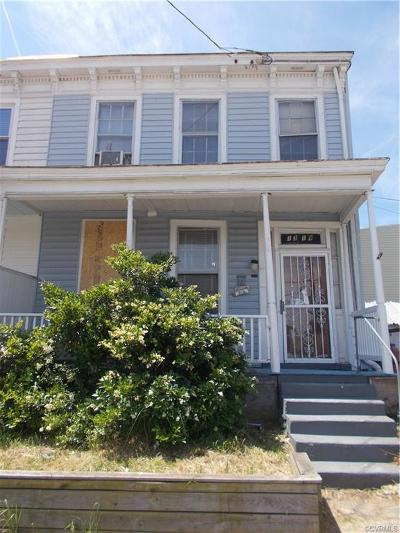 Richmond Single Family Home For Sale: 1319 W Leigh Street