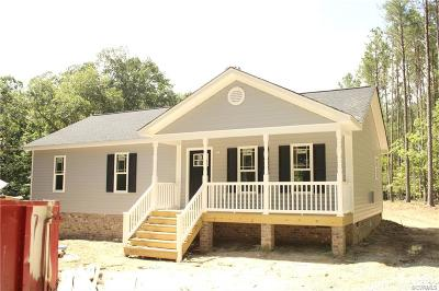King William County Single Family Home For Sale: 1196 Marl Hill Road
