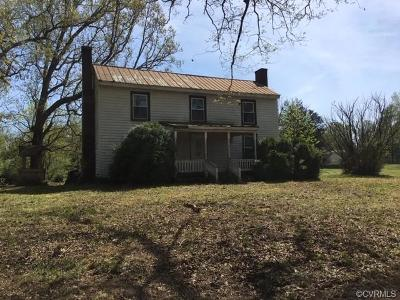 Dinwiddie Single Family Home For Sale: 16050 Flatfoot Road