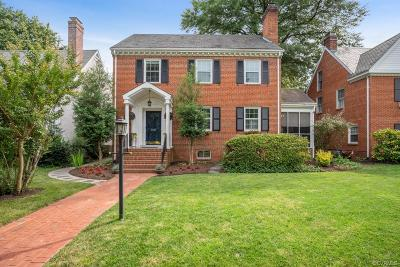Richmond Single Family Home For Sale: 3911 Monument Avenue