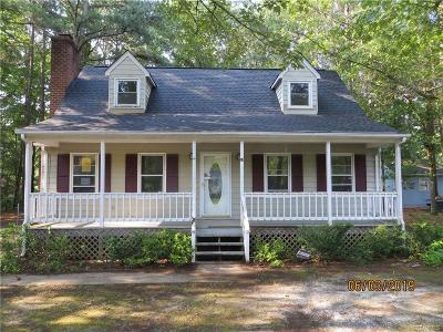 Dinwiddie County Single Family Home For Sale: 24405 Gaydell Drive