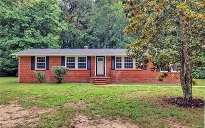 Charles City Single Family Home For Sale: 10100 Barnetts Road