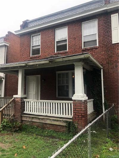 Richmond Single Family Home For Sale: 731 Arnold Avenue