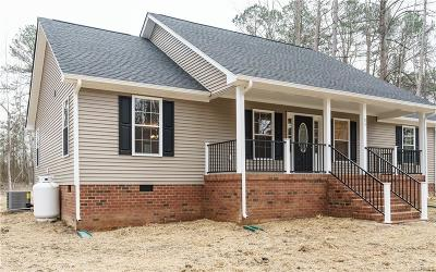 King William County Single Family Home For Sale: Mount Olive Cohoke Rd