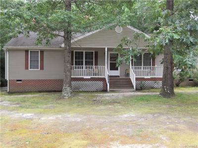 Petersburg Single Family Home For Sale: 11383 Cedar Run Road