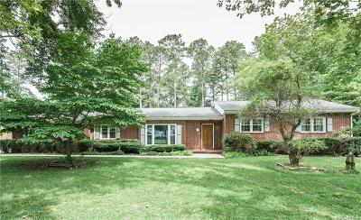 King William County Single Family Home For Sale: 1320 Riverview Drive