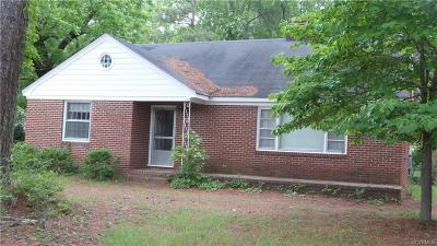 Southampton County Single Family Home For Sale: 23007 Main Street