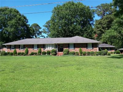 King William County Single Family Home For Sale: 1250 Riverview Drive