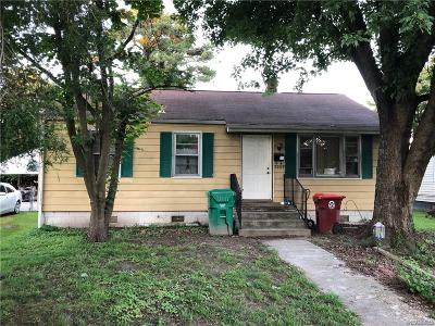 Colonial Heights VA Single Family Home For Sale: $107,500