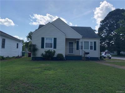 Colonial Heights VA Single Family Home For Sale: $124,900