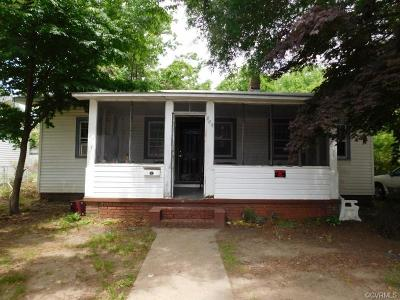 Hopewell Single Family Home For Sale: 805 E Poythress Street