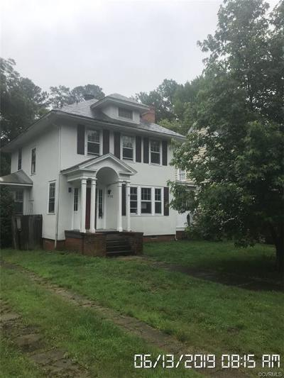 Petersburg Single Family Home For Sale: 1723 Berkeley Avenue