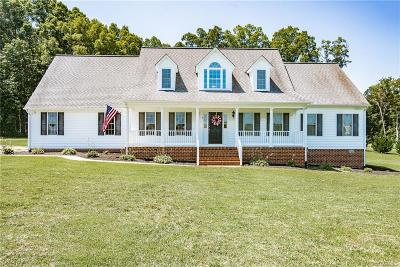 Powhatan County, Amelia County Single Family Home For Sale: 3131 Trenholm Road